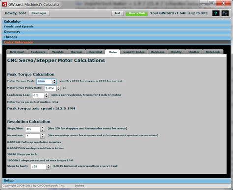 calculate stepper motor torque step and servo motor sizing software for cnc cnccookbook