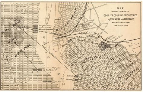 map showing new york 19th century stench map explains why became the