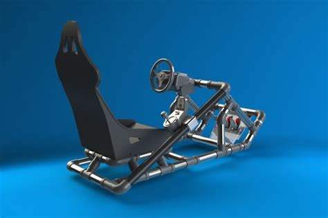 racing simulator chair plans eddy s pvc rig from start to finish inspired by simul8r