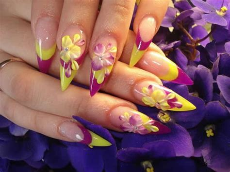 acrylic paint nail ideas acrylic paint nails design nail styling