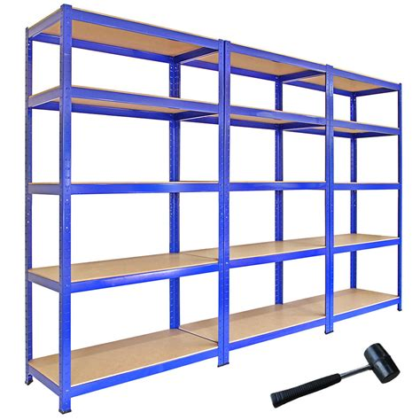 garage shelving units 3 racking bays 5tier garage shelving unit storage racks heavy duty steel shelves ebay