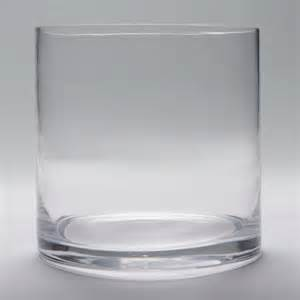 6x6 cylinder glass vase glass container
