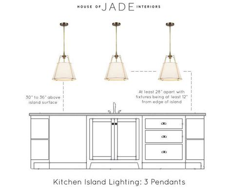 height for pendant lights island renovation