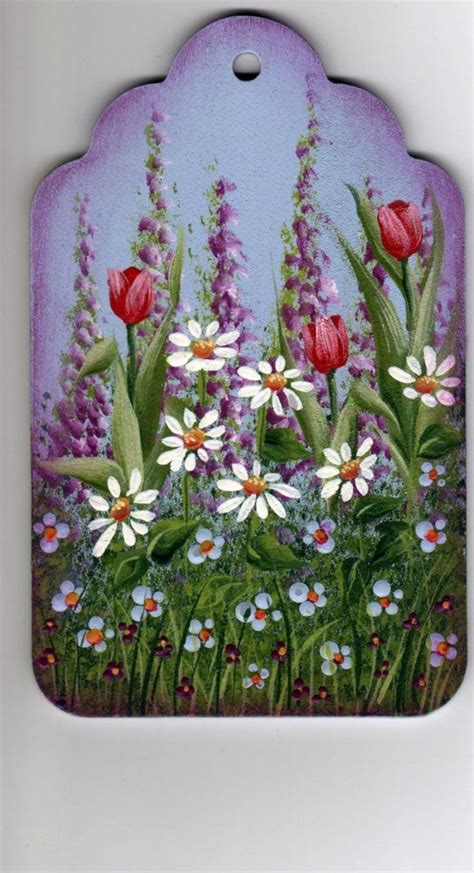 watercolor pattern packets spring garden painting pattern packet dawksartetsy by