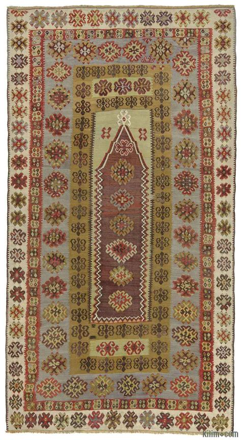 purple kilim rug k0010263 purple green antique yahyali kilim rug