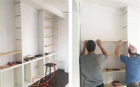 diy built in shelves sherman samuel house update diy built in shelving