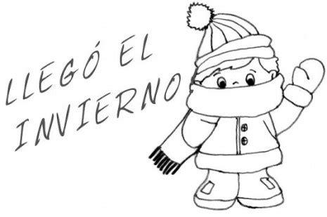 imagenes de invierno y otoño dibujos de bienvenido invierno para imprimir y pintar