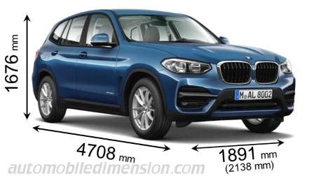 Bmw X3 Length by Dimensions Of Bmw Cars Showing Length Width And Height