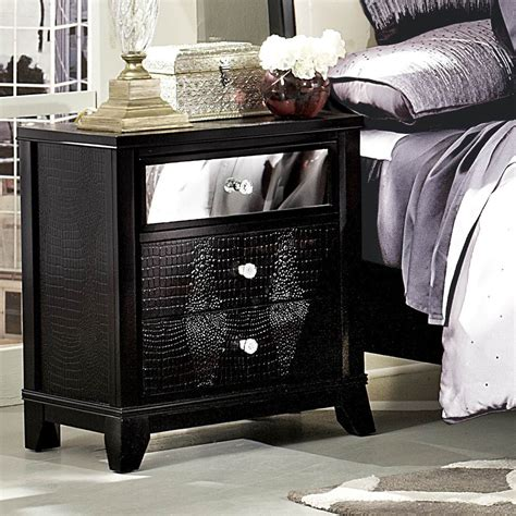 Mirrored Nightstand With Drawers by Homelegance Jacqueline Mirrored Drawer Front Nightstand In