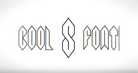 cool letters fonts font based on the cool s that everyone learns to draw when