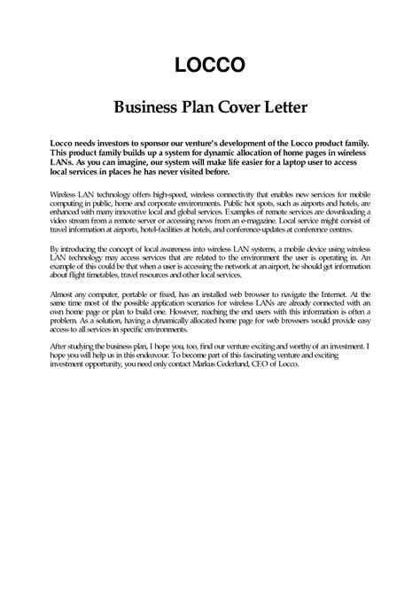 business proposal cover letter sample apparel dream