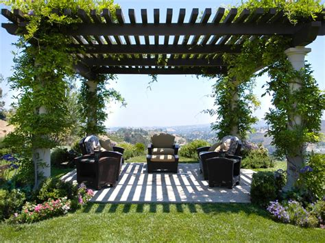 hgtv backyard wisteria covered pergola who says your garden has to be snuggled up next to your house