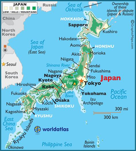 map japan japan large color map