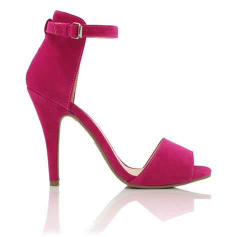 buy marlie stiletto heel peep toe sandal shoes pink suede
