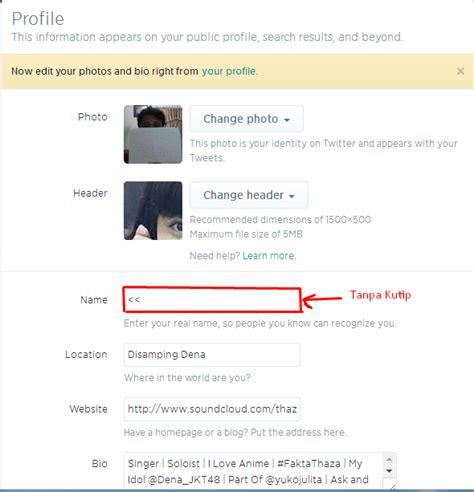 cara membuat nickname twitter kosong tips dan trik