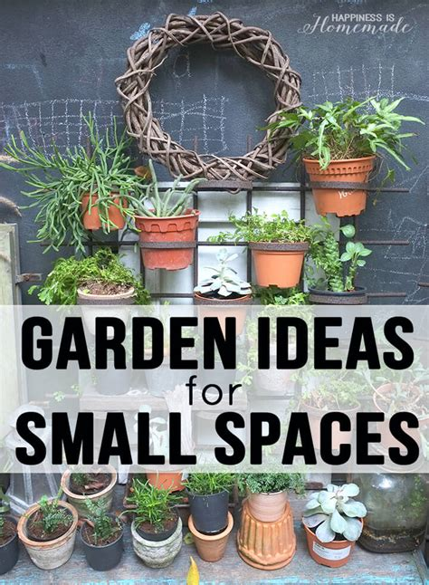 Garden Ideas For Small Areas 20 Garden Ideas For Small Spaces Happiness Is