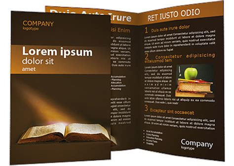 old book brochure template design id 0000001338