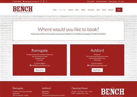 bench site design bench site design restaurant website design for innovative
