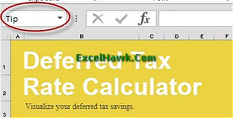 deferred tax calculation template deferred tax calculator template tutorial excelhawk