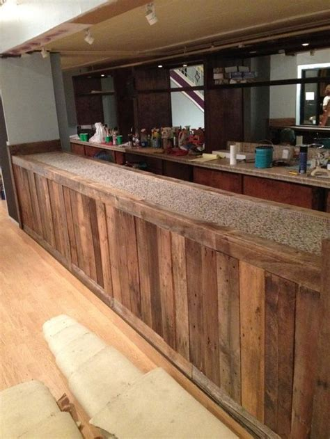 ideas for pallets a bar front out of