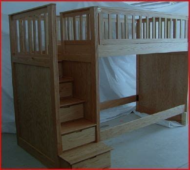 Bunk Beds Handmade - made stairway bunk beds with underbed storage by none