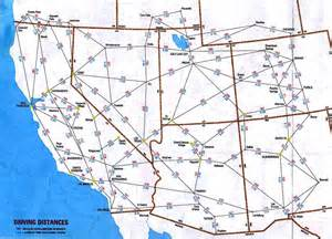 us map with driving distances the southwest