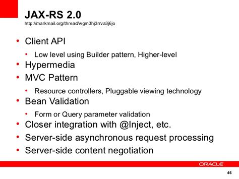 pattern bean validation spark it 2011 developing restful web services with jax rs