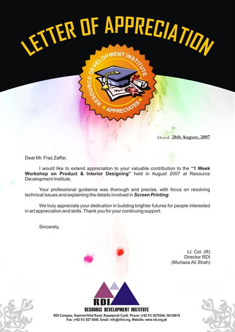 Promotion Recognition Letter thank you letter to for promotion promotion