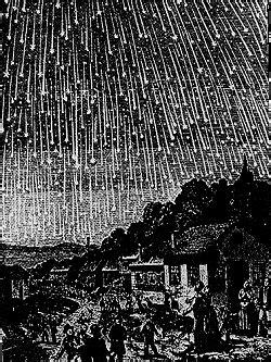 Leonid Meteor Shower 1833, cosmic omen | Leonid meteor