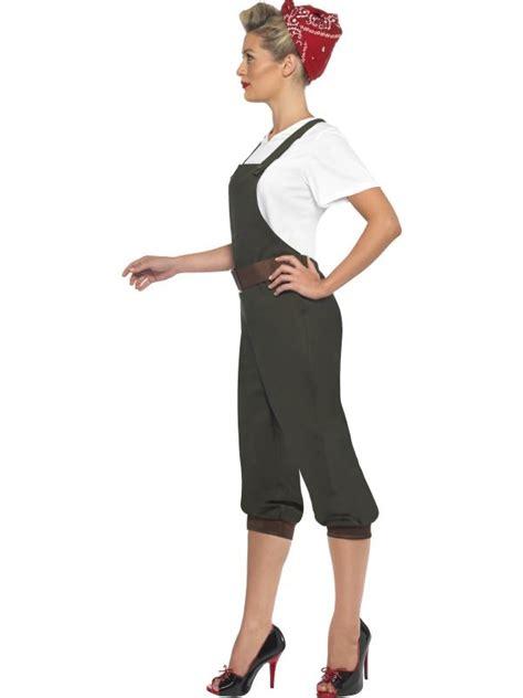 world war 2 outfits ladies ww2 land girl costume world war ii worker womens
