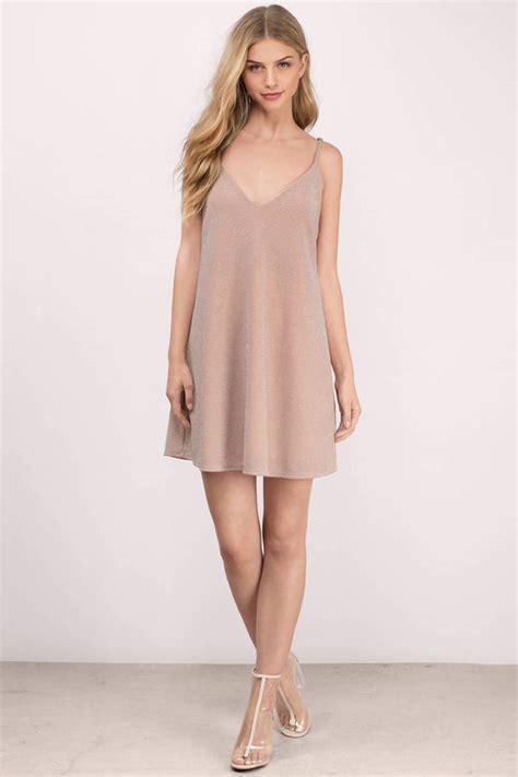 Metallic Dresses by Blush Shift Dress Pink Dress Metallic Dress 28 00
