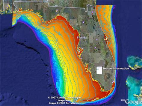 Us Continental Shelf by Florida Shelf Summay Florida Shelf Habitat Flash Map