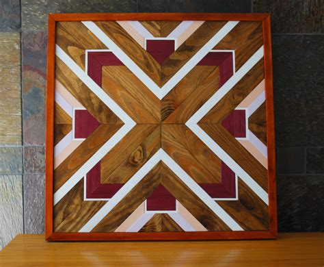 design art wood native american geometric design wood wall art navajo tribal