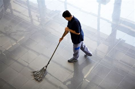 Mopping The Floor by Commercial Cleaning Services In Chicago Interservice