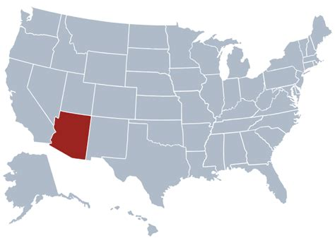 arizona state on us map arizona state information symbols capital constitution