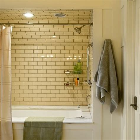 brown subway tile bathroom cream tile with brown grout home decor pinterest