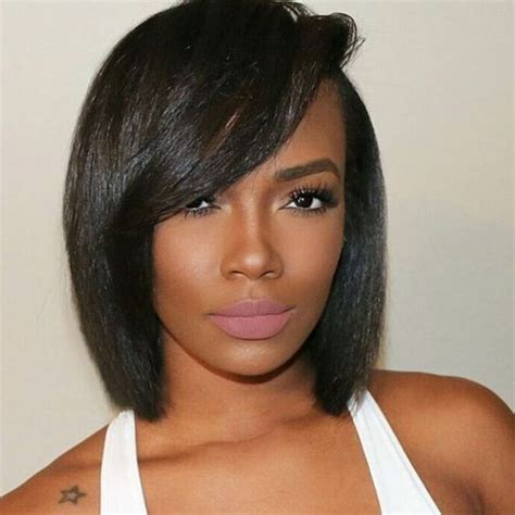 wedding bob hairstyles for black women fine hair layered pinterest 50 stylish short hairstyles for black women