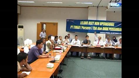 ferry hidayat lelang non eksekusi sukarela scrap pt timah tbk tahun