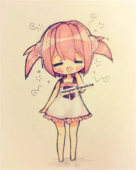 doodle draw anime anime chibi morning anime