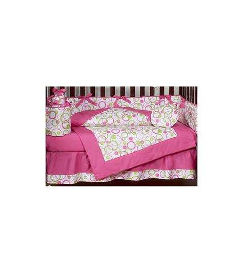 sweet jojo baby bedding sweet jojo designs circles pink 9 piece crib bedding set