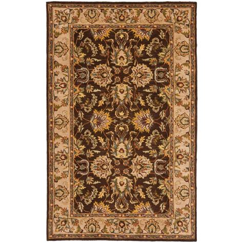 9 X 6 Area Rugs Safavieh Heritage Brown Ivory 6 Ft X 9 Ft Area Rug