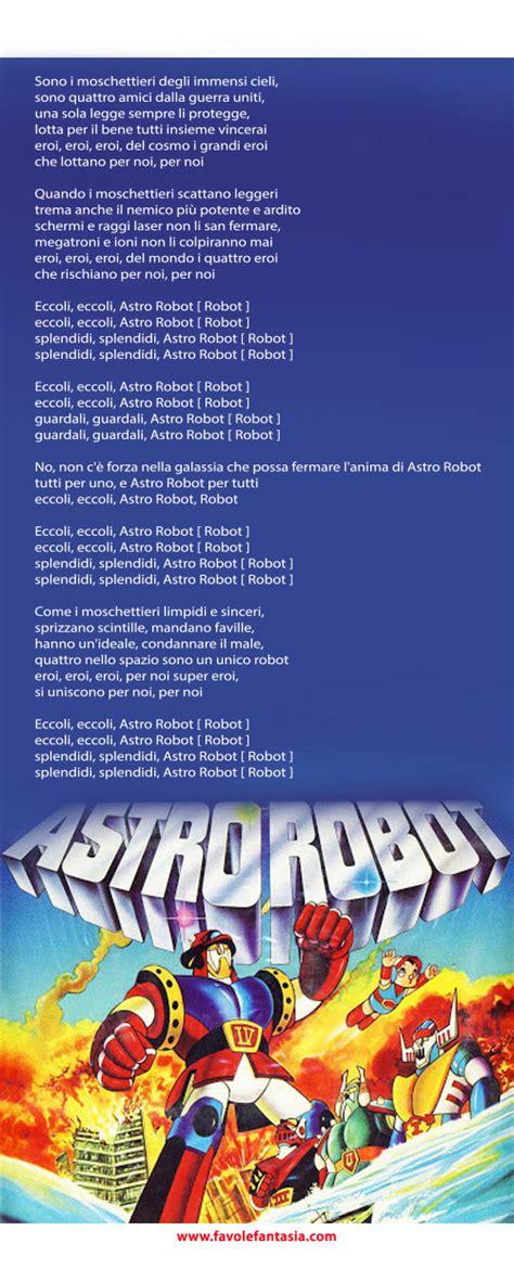 pinocchio sigla testo astrorobot la sigla favole e fantasia