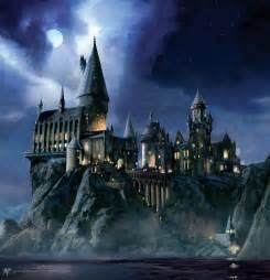 Hogwarts Wall Mural Hogwarts At Night Painting Wall Mural Home Pinterest