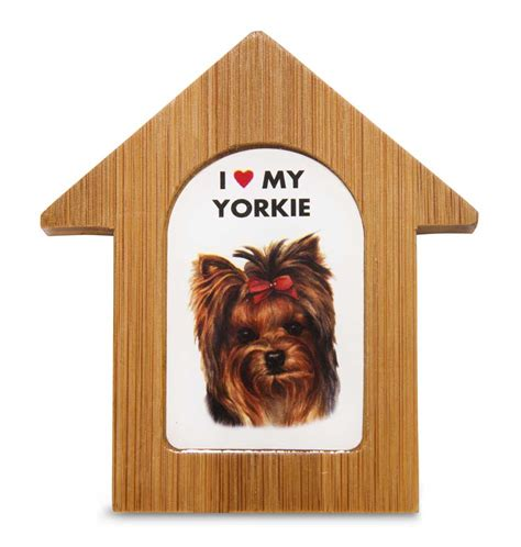yorkie dog house yorkie wooden dog house magnet 3 5 x 3 in self standing