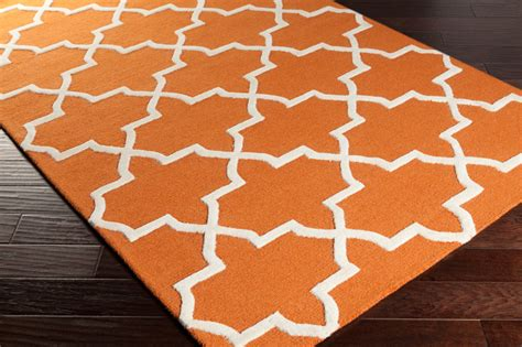 Orange And White Rugs by Keely Rug In Orange And White By Artistic Weavers