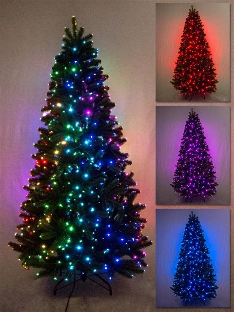 multi colour function dancing light fibre optic tree 1