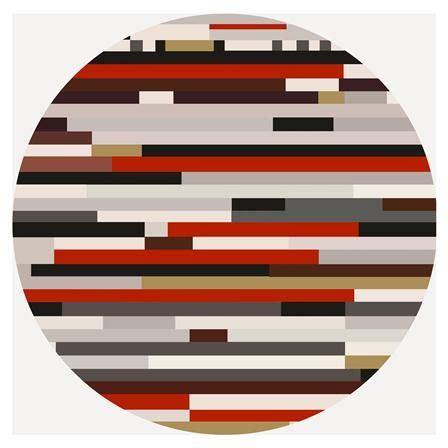 alfombra vinilica redonda roja rayas lurzoruandako biniloak flag logos  country