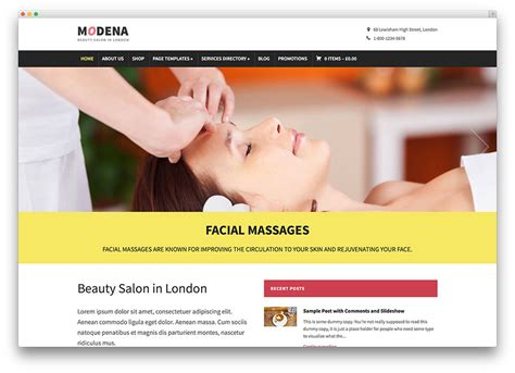 Types Of House Designs 20 beautiful spa amp beauty salon wordpress themes 2017