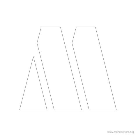 large letter m template capital letter m template