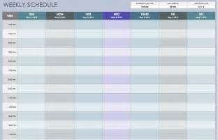 weekly calendar template excel free weekly schedule templates for excel smartsheet